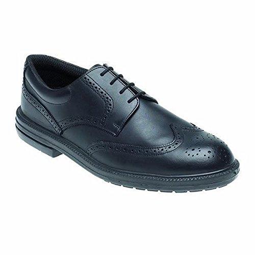 Toesavers schwarz Leder Brogue Sicherheit Schuh–