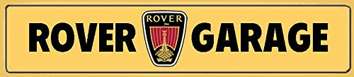 ComCard Rover Garage straßenschild Auto Car Schild aus Blech, Metal Sign, Tin 46x10cm
