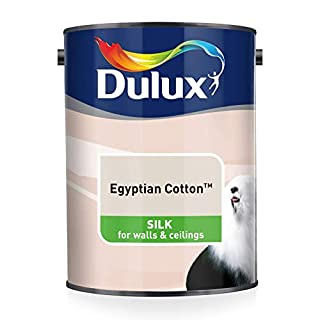 Dulux Silk Emulsion Paint For Walls And Ceilings - Egyptian Cotton 5L
