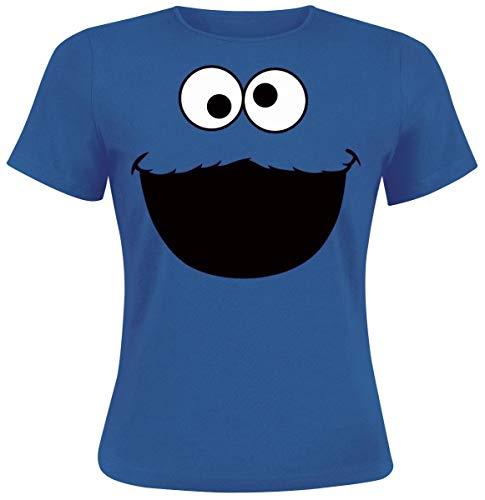 monster - Face T-Shirt Royalblau S ()