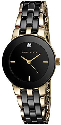 Anne Klein AK/1610bkgb–Montre bracelet pour femme