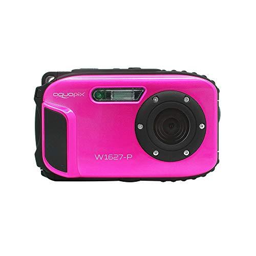Aquapix W1627-P Ocean Unterwasser-Digitalkamera in Pink mit Li-Ion Akku