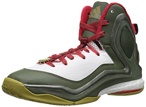 Adidas Performance D Rose 5 Boost scarpa da basket, Dark Base Verde, 11 M Us Dark Base Green
