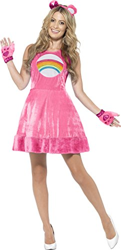 Image of Smiffy's Women's Official Care Cheer Bear Costume (Medium, Pink)