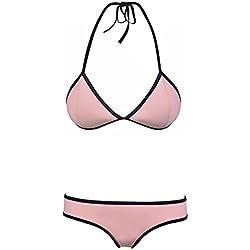 Ninimour Traje de Baño Dos Piezas de Color Fluorescentes para Mujer Bikini Sets Swimsuit