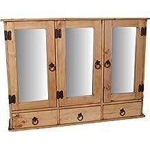 Suchergebnis auf f r spiegelschrank landhaus for Amazon spiegelschrank