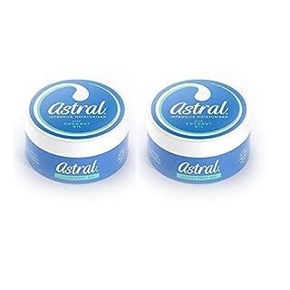 2 X Astral Intensive Moisturiser With Coconut Oil Face & Body Moisturiser- 200ml