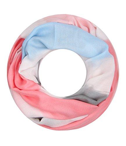 Majea NEUE Saison Damen Loop Schal viele Farben Muster Schlauchschal Halstuch in aktuellen Trendfarben (rosa 24)