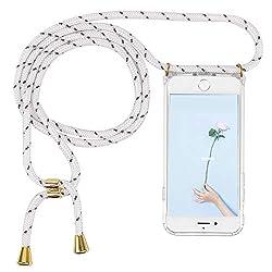 Imikoko Handykette Hülle für iPhone 7/iPhone 8 Necklace Hülle mit Kordel zum Umhängen Silikon Handy Schutzhülle mit Band - Schnur mit Case zum umhängen