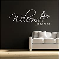 WELCOME To OURHOME Wall Art Wall - Adhesivo decorativo para pared, diseño de vinilos