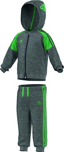 adidas Baby Trainingsanzug Infants Hooded Jogger, Grau/Grün, 62, AB6921