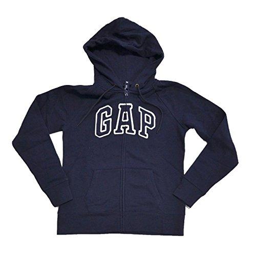 GAP Womens Fleece Arch Logo Sudadera con cremallera completa (X-Large, Azul)