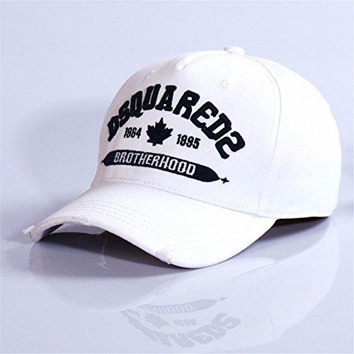 HYP@Baseball Cap/Baseballkappe/Trucker Cap/Trucker Hat/Golf Sport Outdoor Kappe Mütze CapCotton Cap Stickerei, weiss, einstellbar Jordan White Hat