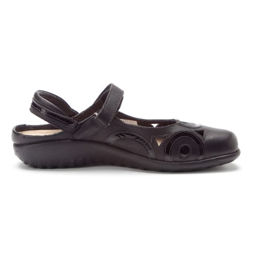 Naot Womens Rongo Leather Sandals Black