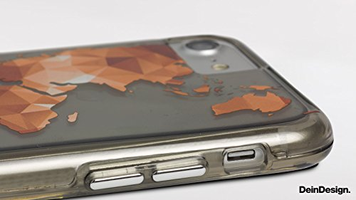 Apple iPhone 6 Bumper Hülle Bumper Case Glitzer Hülle Autumn Herbst Efeu Bumper Case transparent grau