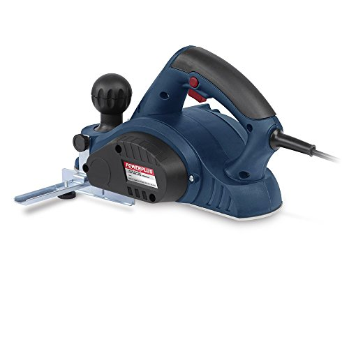 Powerplus 600 Watt Electric Planer with 82mm Planing Width, Fitted Parallel Guide and Depth Control - Complete with Dust Adaptor and Dust Bag POW1520 - 2 Year Home User Warranty