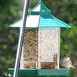 Beautyrain Hermoso Comederos para Pájaros Decoración De Jardín Colgante Impermeable Jardines Gazebo Económico