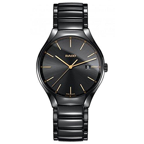 Rado True Herren-Armbanduhr 40mm Armband Keramik + Gehäuse Quarz R27238152