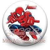 BADGE ACCESSOIRE SUPER HEROS AVENGER SPIDERMAN