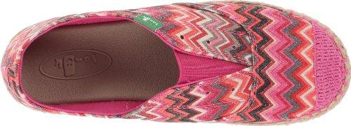 Sanuk Women's Runaround Jute Flat Fuchsia Multi