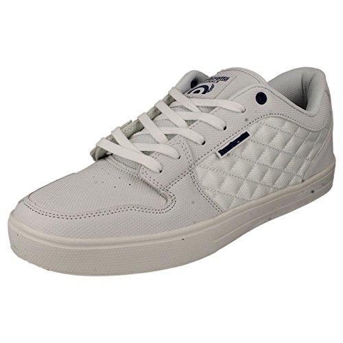 Da uomo Lambretta Skater stile scarpe Casual rullo, bianco (White), 45