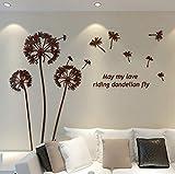 Beilinheng 3D Adesivi Murali Stereo Cristallo Acrilico TV Sfondo Wall Art Murale Decalcomanie Soggiorno Camera da Letto Decorativo Adesivo Impermeabile Sfondo 53x42 inch