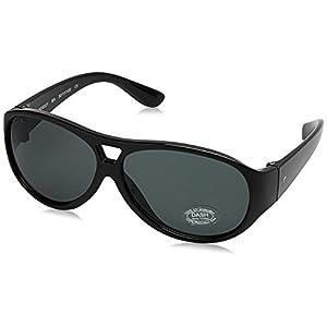 Dash UV Protected Aviator Unisex Sunglasses - (SDS021AA|50|Black Color)