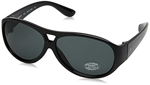 Dash UV Protected Aviator Unisex Sunglasses - (SDS021AA|50|Black Color)