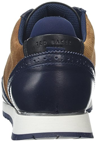 Ted Baker Shindlm, Baskets Homme Bleu (Dark Blue/brown)