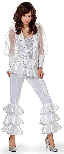 W4147C-42 weiß Damen Disco Anzug Disco Queen Gr.42