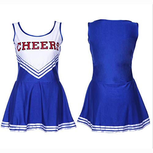 ZYUNYUN Cheerleader Kostüm Outfit Uniform High School Musical Sexy Dessous Weibliche Cheerleading Uniformen Performance Kleidung, Extra Large,C,L