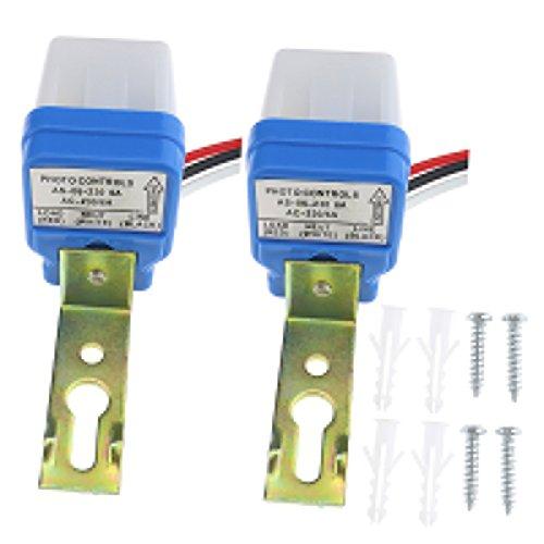 2 stk 230 V / 6A Dämmerungsschalter Dämmerungssensor Lichtsensor Automatische Photoschalter twilight switch Dusk Dawn Fotozelle Lichtsensor Detektor Schalter -