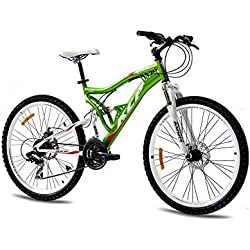 """KCP 26"""" Mountain Bike Rooster 21 Speed Shimano Unisex Red - (26 Inch)"""