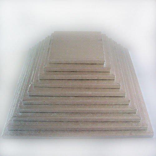 Funcakes - Plateau de présentation carré épais 22,5 x 22,5 cm