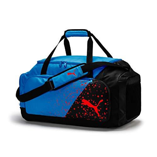 PUMA Liga M Bag Sporttasche, Black-Azure Blue-Red Blast, UA