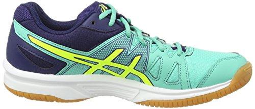Asics Gel-upcourt, Chaussures de Squash Femme Bleu (aqua Mint/flash Yellow/indigo 7007)