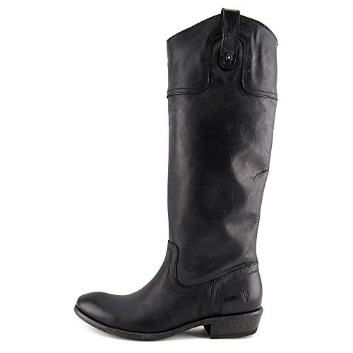 Frye Carson Riding Button Cuir Botte Black