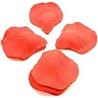 ONOGAL 1000 x Petalos de rosa en tela de color rojo Manualidades Artesania Floral 2395a