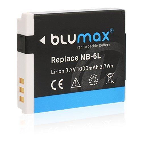 Blumax Akku 3.7V 1000mAh 3.7Wh Li-ion für Canon NB-L6 / NB-6LH
