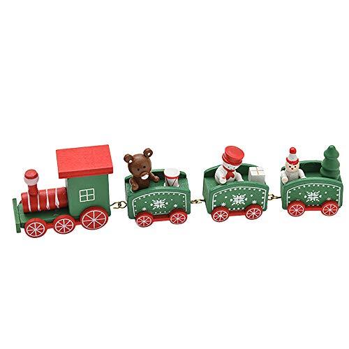 (Baumschmuck Weihnachten Deko,Transwen Weihnachtsschmuck Weihnachten Woods Kleine Zug Kinder Kindergarten Festival Tischdeko/Weihnachtsdeko (Grün))