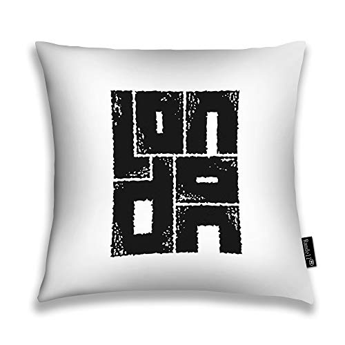Randell decorative throw pillow case unicorn dragon tattoo art symbol of dreams tales fantasies unicorn tribal dragon celtic cushion cover square 18 x 18 inches