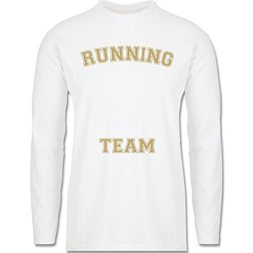 Laufsport - Running Team - Longsleeve / langärmeliges T-Shirt für Herren Weiß
