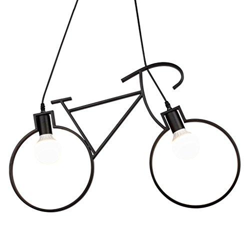 Lampadario a bracci per bicicletta industriale vintage windmill, lampada a soffitto semplice per led, ristorante americano village lampada a sospensione decorativa per ufficio ( color : black )