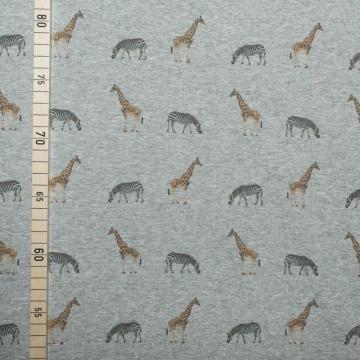 Safari auf grau - Sweat / French (Safari Kostüm Diy)