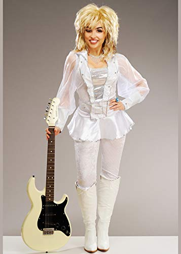 Magic Box Int. Weißes Dolly Parton Style Kostüm für Damen UK10 EU36