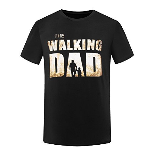 SuperCimi The Walking Dad T-Shirt Funny Father's Day Dad Tees Mens Husband Shirt