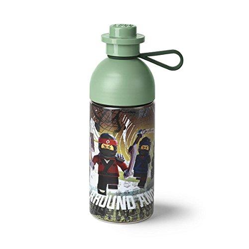 LEGO NINJAGO Movie Trinkflasche, Trink-/Sportflasche, 500 ml,  zum Befüllen mit Eis, Sand Grün