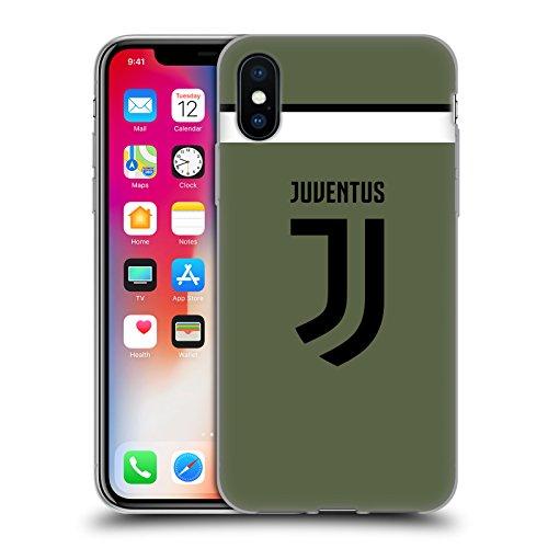 Head case designs ufficiale juventus football club terza maglia 2017/18 race kit cover morbida in gel per iphone x/iphone xs