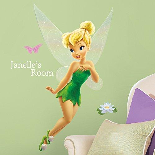 Preisvergleich Produktbild RoomMates Disney Fairies Tinkerbell Wandsticker personalisierbar