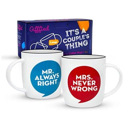 30th Anniversary Gift Set of 2 China Mugs Mr Right /& Mrs Always Right